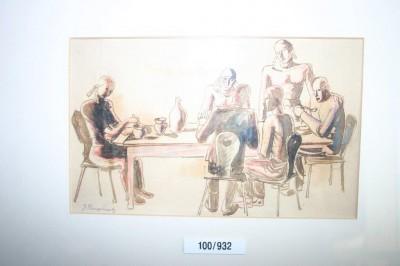 Verein ersteigert originale  Zeichnung von Ringelnatz