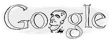 Ringelnatz grinst aus dem Google-Logo